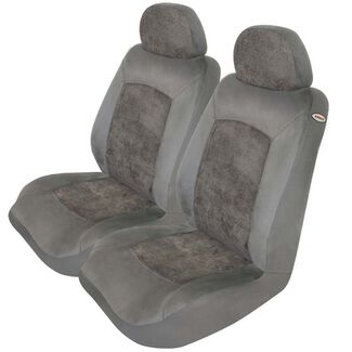 Dynasty Microsuede Jacquard Car Seat Cover - Two Pack